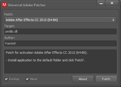 Universal Adobe Patcher 2018 For All Product