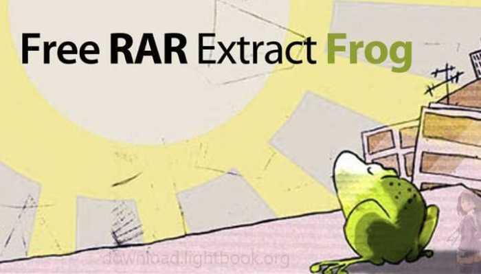 تحميل برنامج Free RAR Extract Frog 7.00 لفك وضغط الملفات
