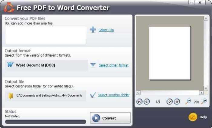 Télécharger Free PDF To Word Converter pour Windows