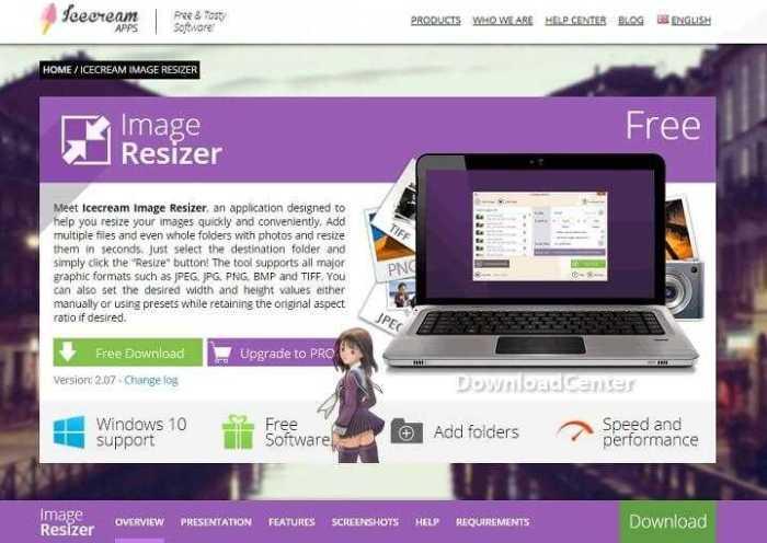 تحميل برنامجIcecream Image Resizer لتغيير حجم الصور مجانا