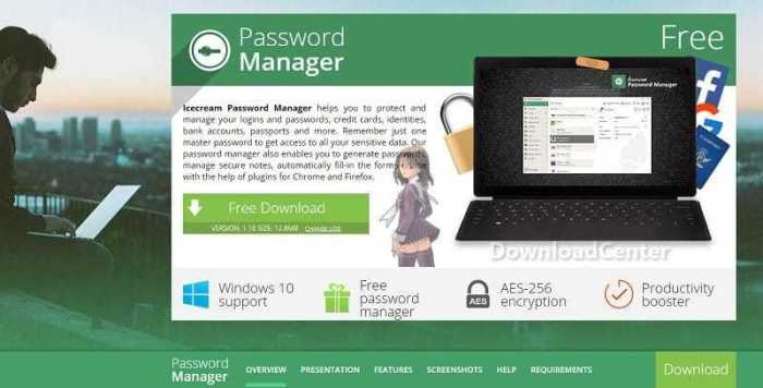 Download Icecream Password Manager Protect Data/Password