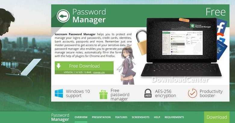 Download Icecream Password Manager - Data & Passwords Protection