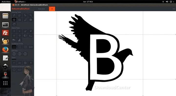 تحميل برنامج Birdfont محرر لإنشاء وتصميم خطوط مميزة مجانا