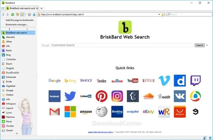 Télécharger BriskBard Navigateur Tout-En-Un Pour Windows