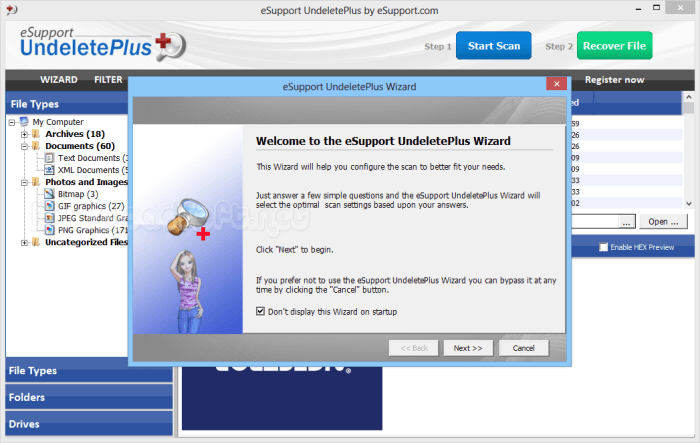 Download eSupport UndeletePlus Free Recover Deleted Files