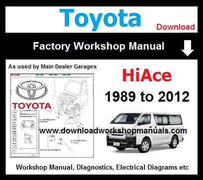 toyota hiace workshop repair manual