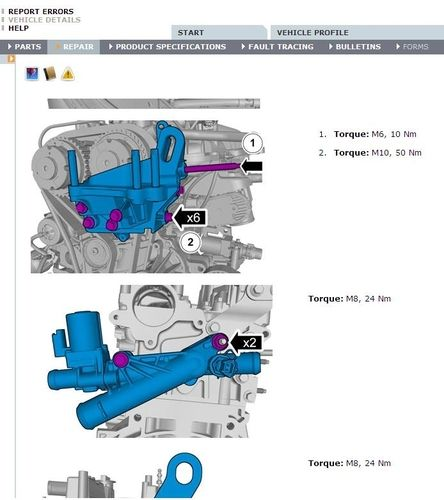 Volvo V40 Spare Parts Catalog