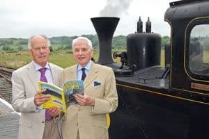 "Gerry Cochrane (left) with Bill Gillespie at the launch of Gerry's book ""Back in Steam"" in June 2009"