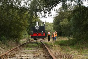 At the end of the line, the party inspects the existing track, which ends approx 1km from the destination of Ballydugan.