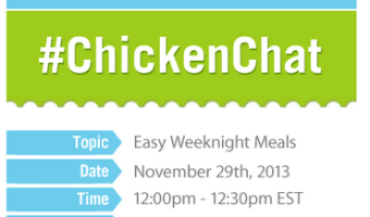 Chicken Chat–#ChickendotCA–Easy Weeknight Family Dinners