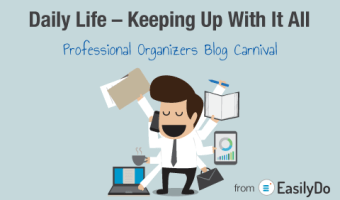 Daily Life–Keeping Up With it All–Professional Organizers Blog Carnival–EasilyDo–#APPReview