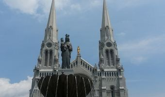 Wordless Wednesday–St. Anne de Beaupre, Quebec–Pilgrimage to my Saint Day #Quebec #Canada #Family #Travel