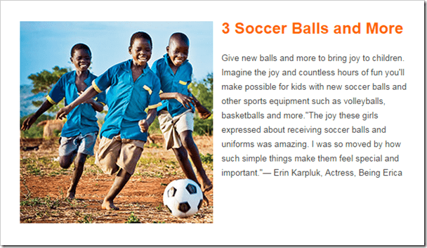 World Vision Christmas Gift Guide @DownshiftingPRO Soccer Balls