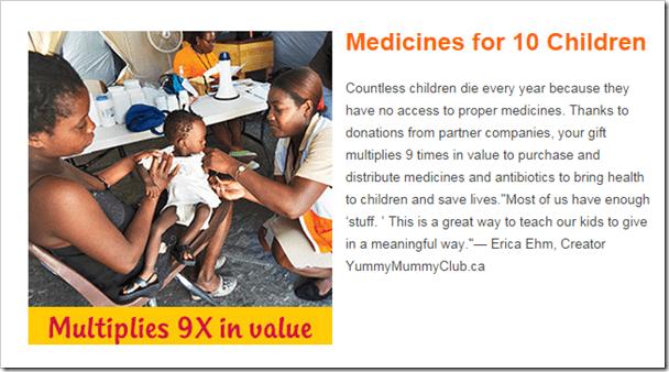 World Vision Christmas Gift Guide @DownshiftingPRO Wishlist - Medications