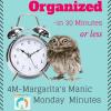 4M–Margarita's Manic Monday Minutes – Organizing your Teen's Closet