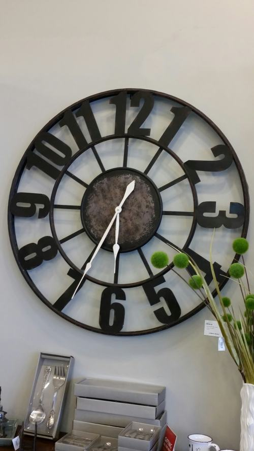 Urban Barn - Wall Clock Black Wrought Iron  @DownshiftingPRO