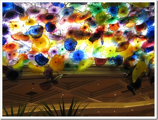 Bellagio Hotel in Las Vegas the Dale Chihuly chandelier