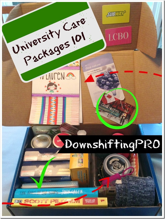 University Care Packages 101 DownshiftingPRO