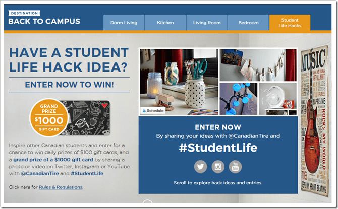 Enter to Win @CanadianTire #StudentLife Hack Contest!  @DowshiftingPRO