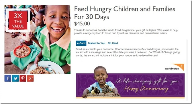 WorldVisionCanada Gift Catalogue_Feed Hungry Children and Families