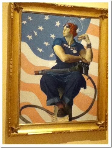 Norman Rockwell Rosie the Riverter Crystal Bridges Museum of American Art