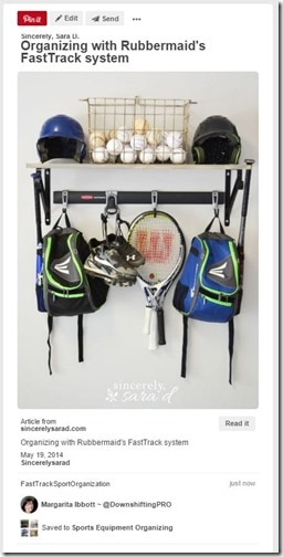 Sports Equipment Organization_ Rubbermaid Fast Track System