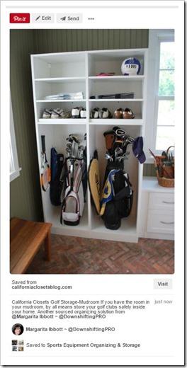 Sports Equipment Organization_California Closets_Golf Clubs