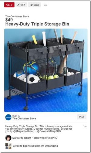 Sports Equipment Organization_Storing Balls_Baseball Bats