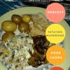 Perfect Pork Chops, Potatoes, Mushrooms  and Salad–Teen Chef Series
