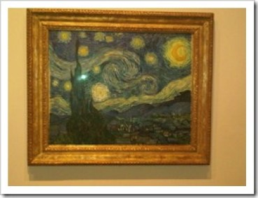 The Starry Night (1889) Vincent VanGogh in the MoMa in NYC