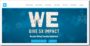 Me to We_5X impact_Giving Tuesday