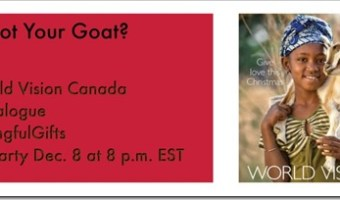 Join World Vision Canada's Meaningful Gifts Twitter Party Dec. 8 @8 pm MeaningfulGifts