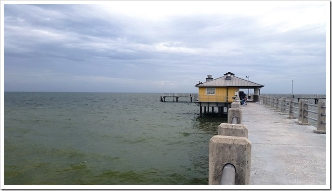 The Fishing Pier at Fort Da Soto Florida State Park @DownshiftingPRO Kayak in Florida