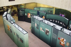 Deadly Medicine exhibit at University of Louisville. The third row shows images of infant victims, including Gertrude.