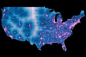Fig. 1 U.S. abortion clinic locations courtesy of The Daily Beast