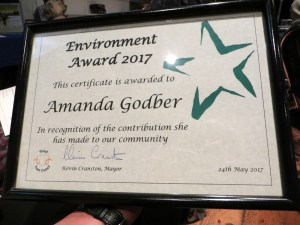 Stroud Environmental award Down to Earth 2017