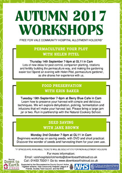 Vale Allotments 2017 Workshops
