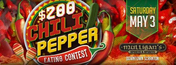 Saturday, May 03rd - $200 Chili Pepper Eating Contest