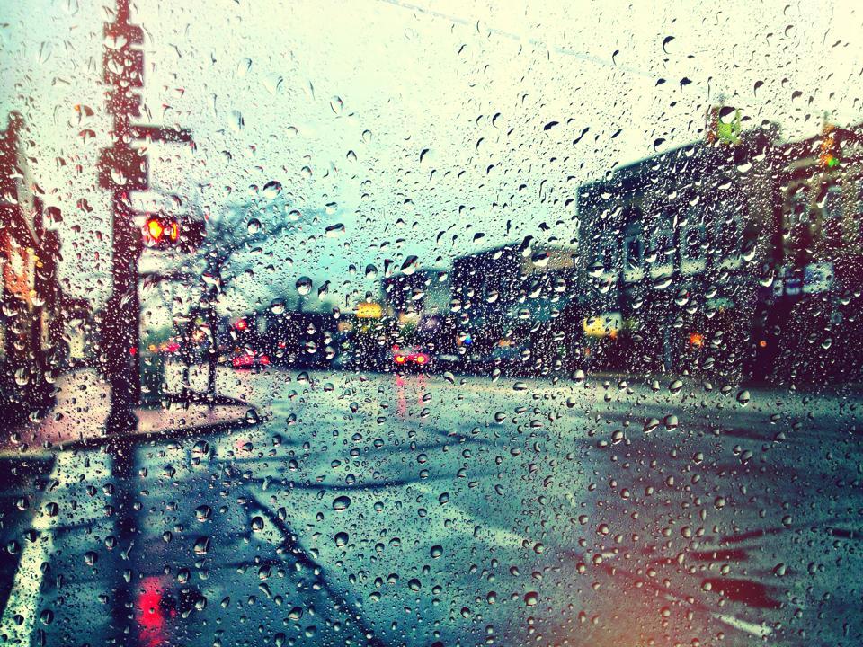 Rainy Day In Ludington Downtown Ludington