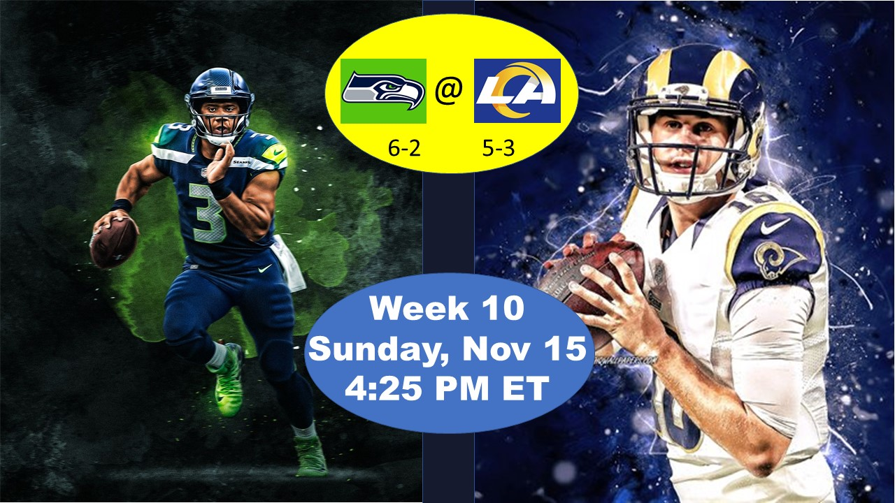 Preview Of Week 10 Matchup Seattle Seahawks Vs Los Angeles Rams Four Point Stance Downtown Rams