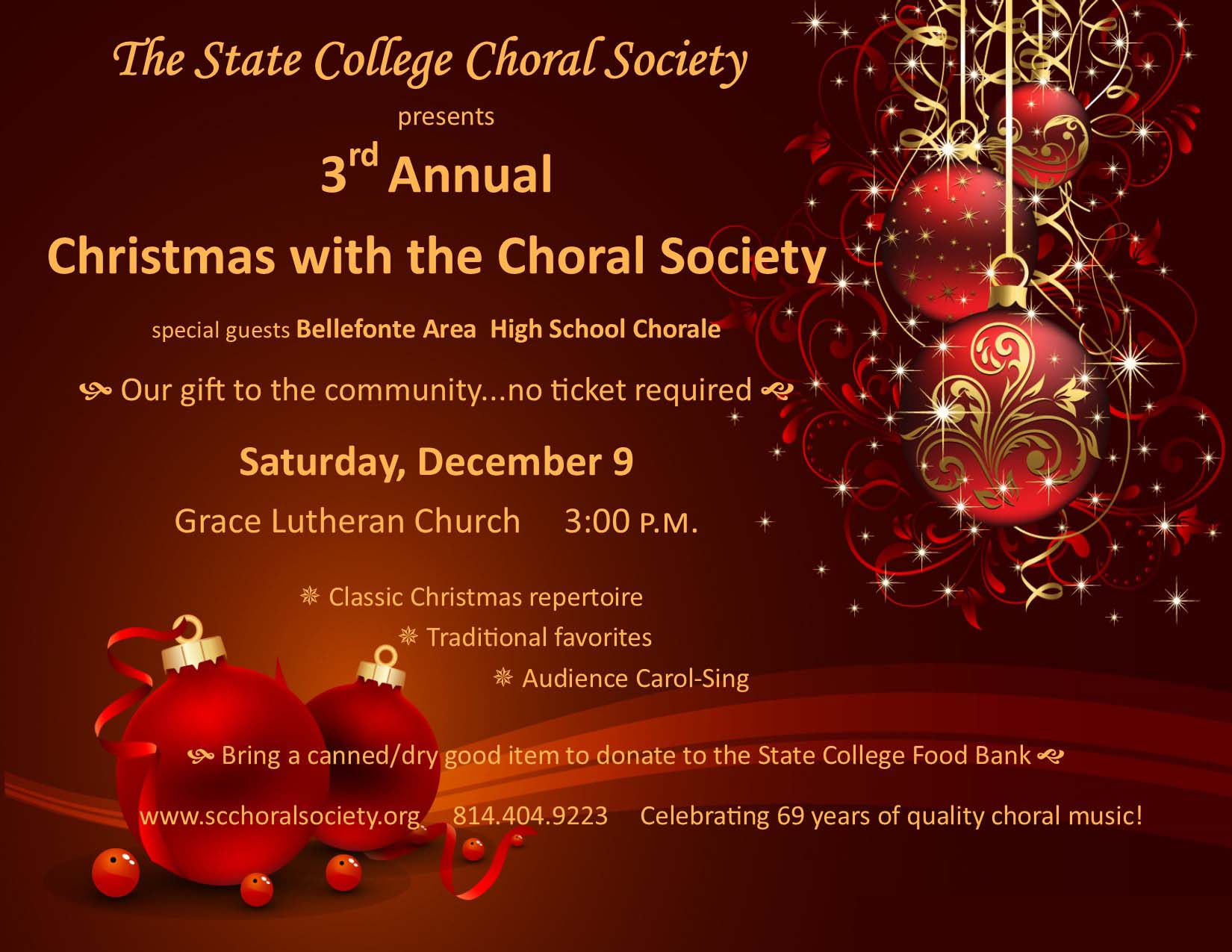 Christmas With The Choral Society Downtown State College