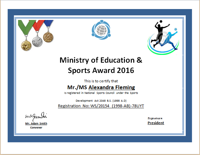 Mesmerizing image within free printable sports certificates