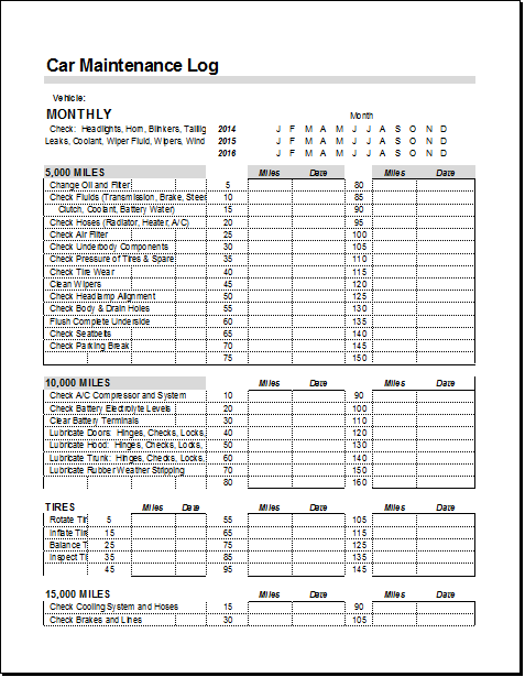 Maintaining a vehicle maintenance log can save your time, money and efforts as you can keep track of the equipment and the parts that make up your vehicle. Car Maintenance Log Template For Ms Excel Document Hub