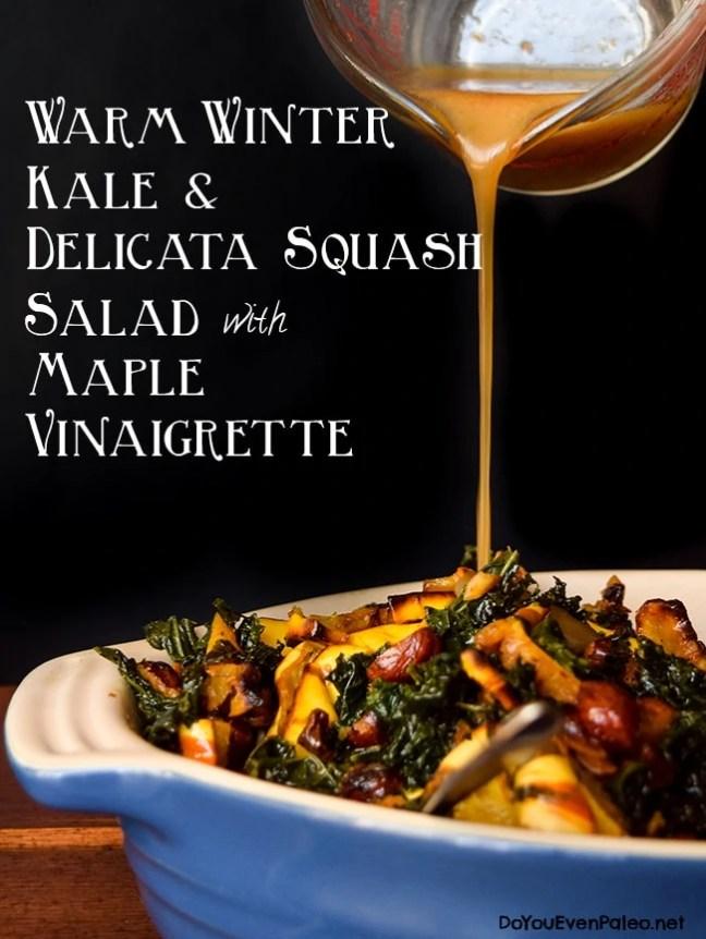 Warm Winter Kale & Delicata Squash Salad | DoYouEvenPaleo.net