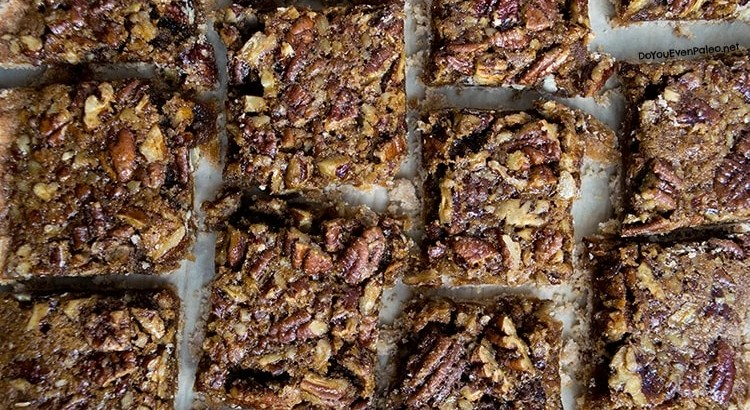 Maple Pecan Bars | DoYouEvenPaleo.net