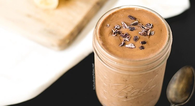 Chocolate Maca Banana Smoothie | DoYouEvenPaleo.net