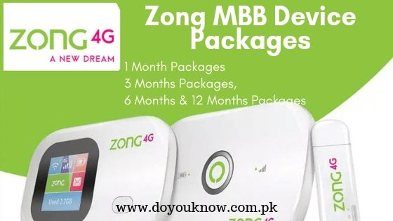 Zong MBB Packages
