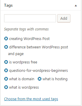 WordPress how to add tag to post