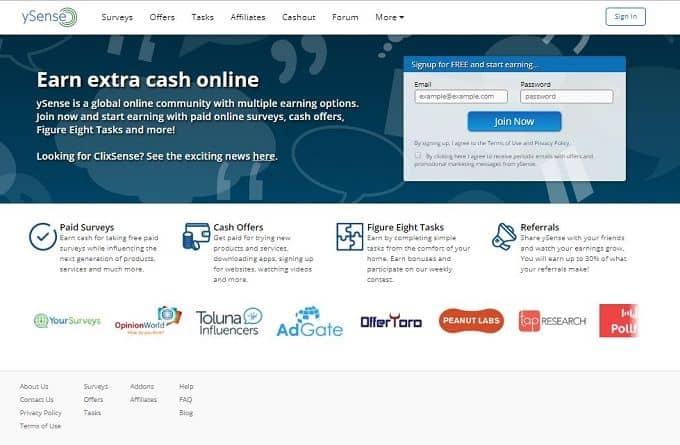 Clixsense site - paypal surveys for money