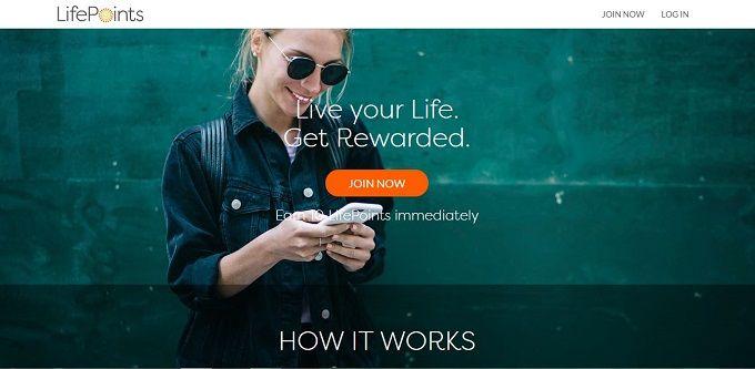LifePoints survey website